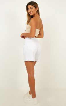 Lyla Denim Shorts In White
