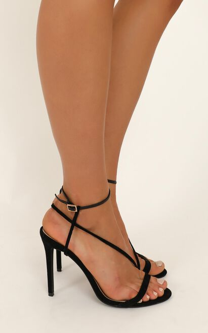 Billini - Tawnie heels in black micro - 10, Black, hi-res image number null