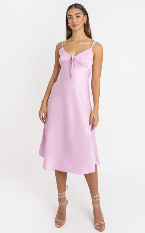 Toss The Dice Dress In Lilac