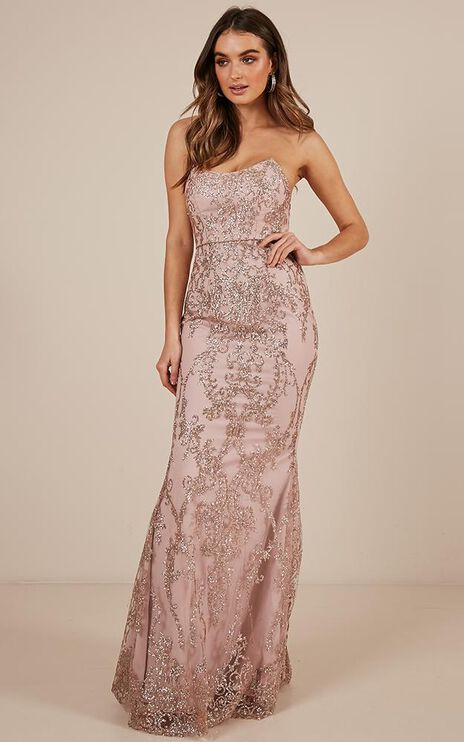 Lose Your Smile Dress In Pink Sparkle