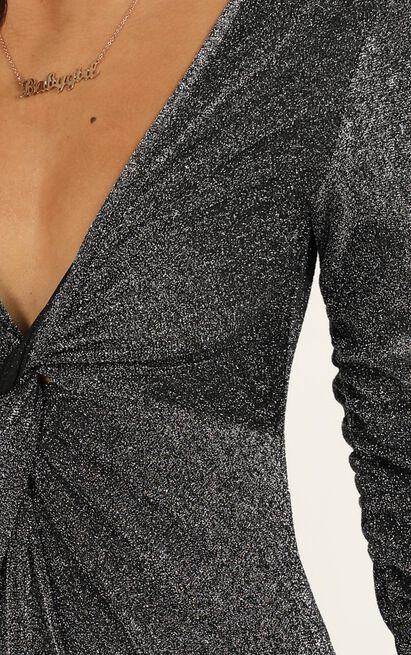 Stars Upon Us bodysuit in black lurex - 14 (XL), Black, hi-res image number null