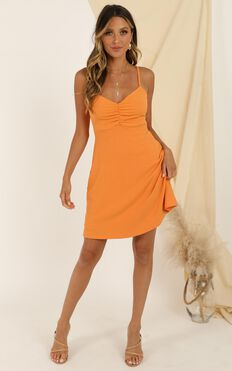 Master Lesson Dress In Tangerine