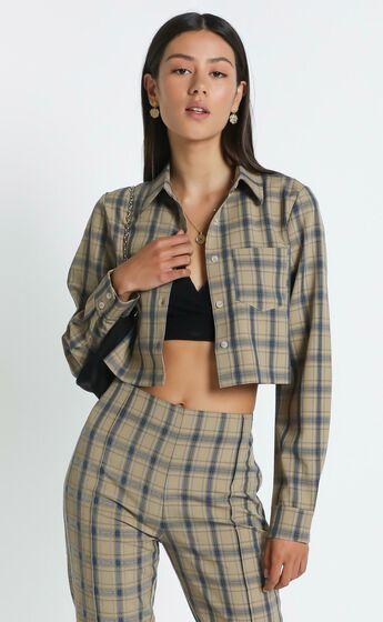 Gwenyth Shirt in Mocha Check