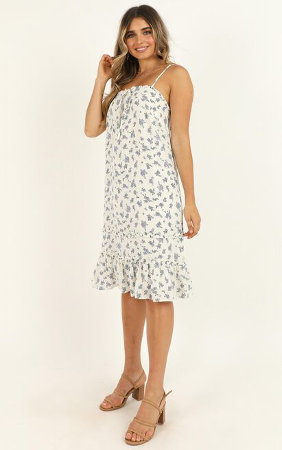 Treasured Soul Dress in white floral - 20 (XXXXL), White, hi-res image number null