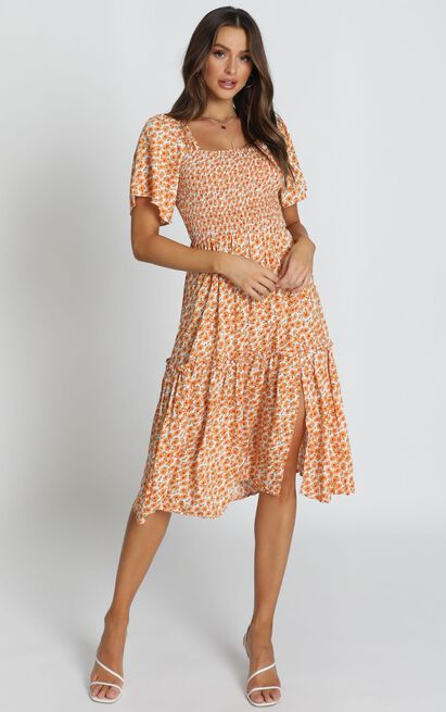 Big Escape dress in yellow floral - 14 (XL), Yellow, hi-res image number null