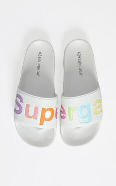 Superga - 1908 White Multi Slides In White
