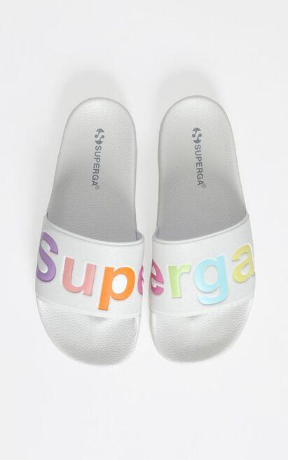 Superga - 1908 White Multi Slides in white - 10, White, hi-res image number null