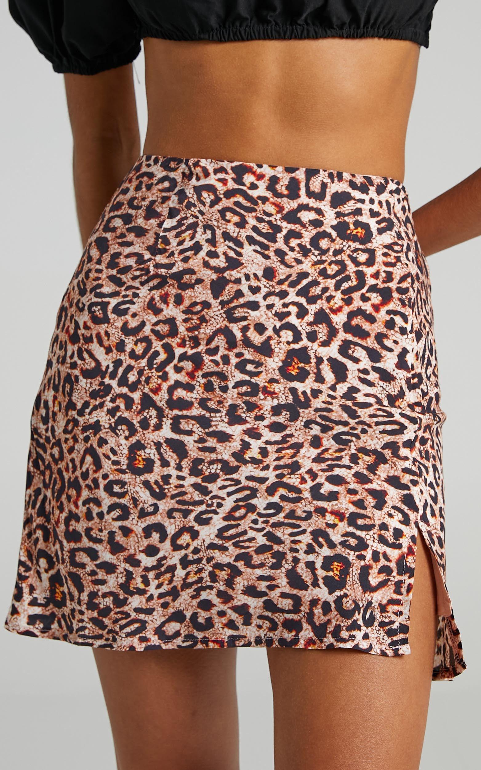Stand In Line Skirt in Leopard - 06, BRN1, super-hi-res image number null