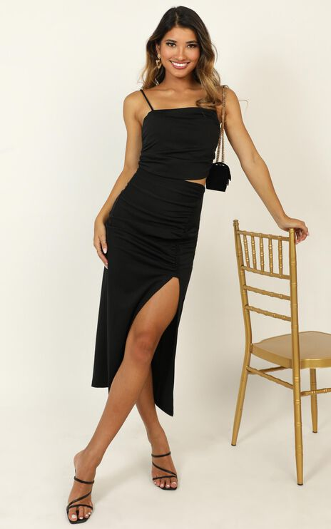 Take Your Time Dress In Black