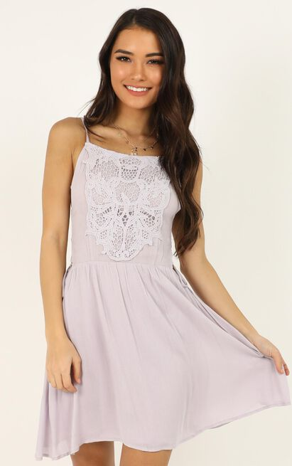 Playing Hard To Get dress in lilac - 12 (L), Purple, hi-res image number null
