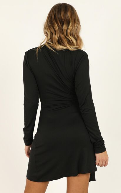 Lioness - Every Single Message Dress In Black - 12 (L), Black, hi-res image number null