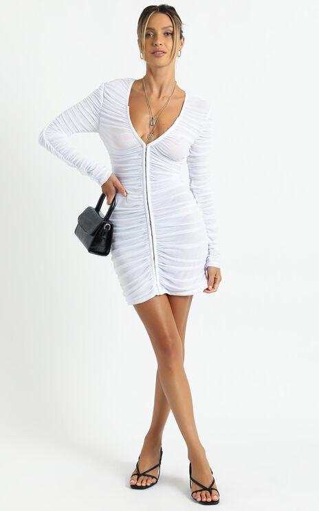 Lioness - Garter Mini Dress in White