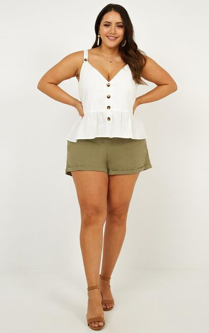 Magic Spell top in white linen look, White, hi-res image number null