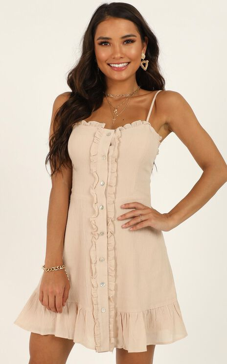 Want You To Know Dress in Beige