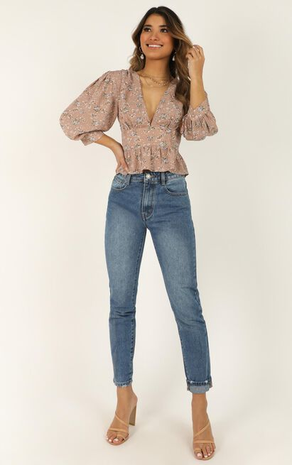 Never As Easy Top In nude floral - 12 (L), Beige, hi-res image number null