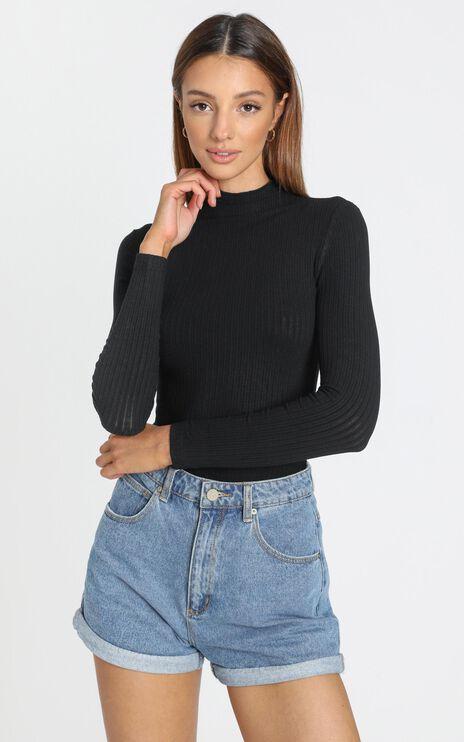Danika High Neck Top in Black