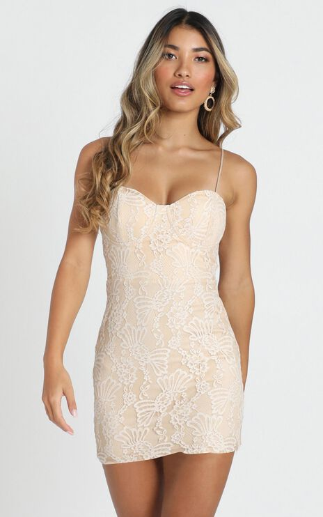 Love Is Yours Dress In Nude Lace