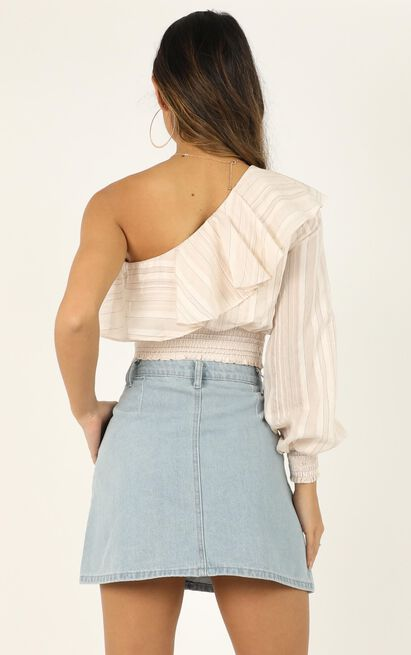 Looking Right Back Top In cream stripe - 14 (XL), Cream, hi-res image number null