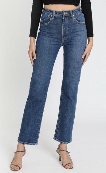 Rollas x Sofia Richie - Original Straight Jeans Daria in Blue Organic