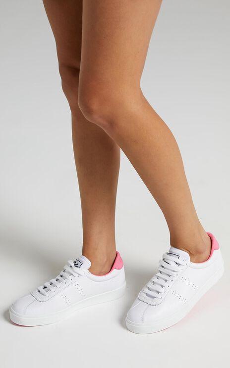 Superga - 2843 ClubS Sneakers in White - Fuchsia