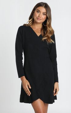 Timeless Glam Knit Dress In Black