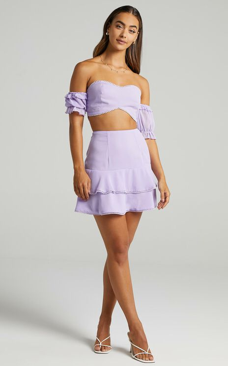 Final Resort Two Piece Set in Lilac
