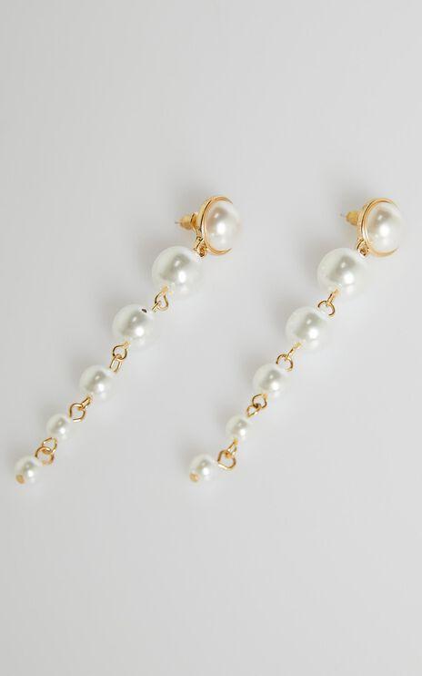Angel Of Mine Earrings in Pearl