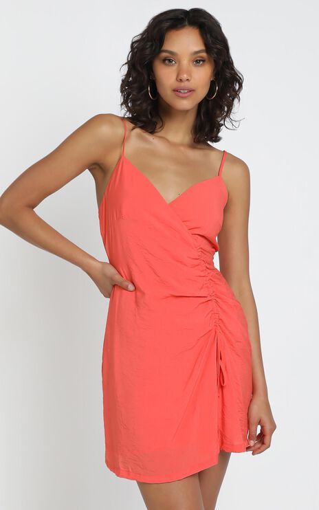 Kimmy Dress in Coral