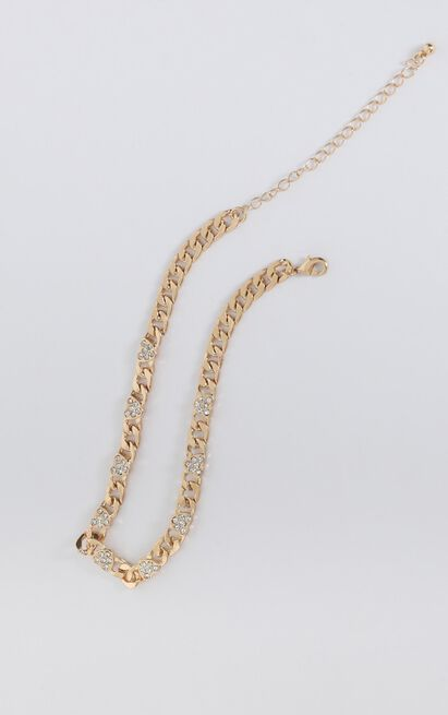 Night Life Chain Necklace In Gold, , hi-res image number null