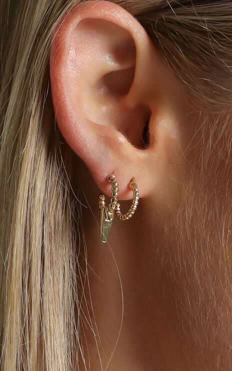Minc Collections - Banksia Huggie Earring Set in Gold