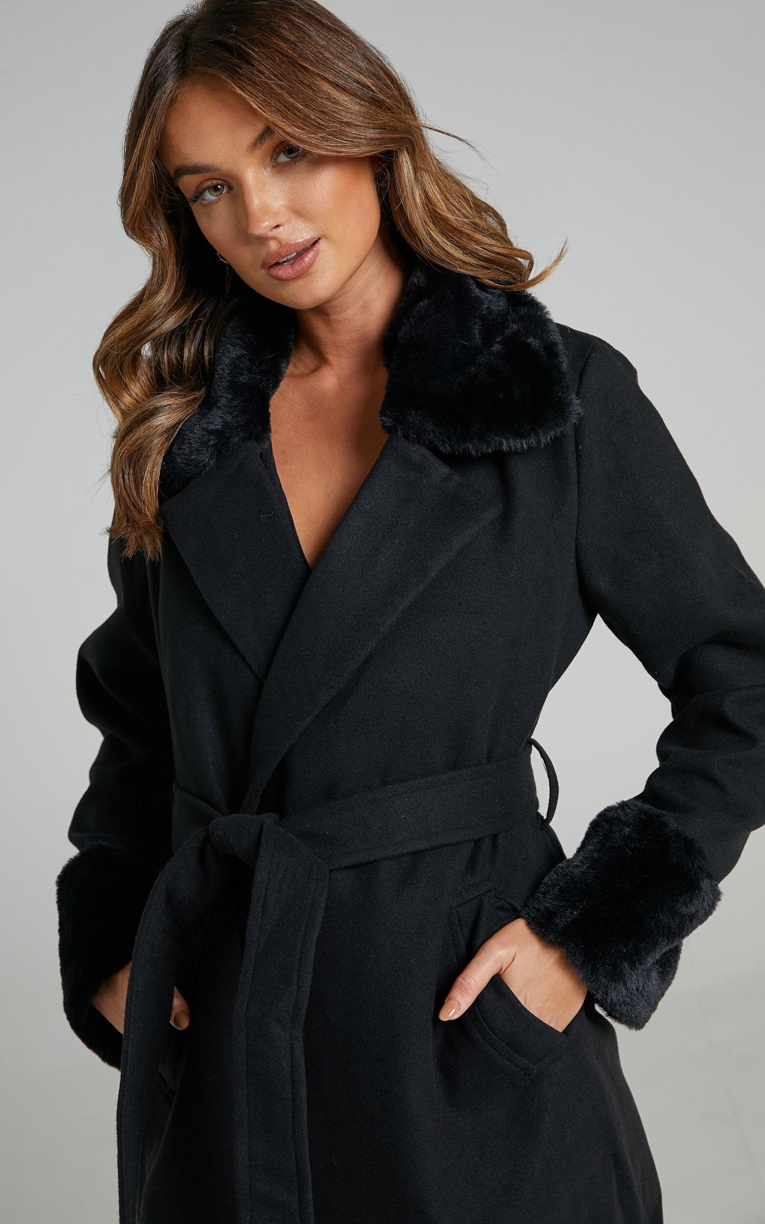 Manhattan Mornings Coat in Black - 14, BLK1, super-hi-res image number null