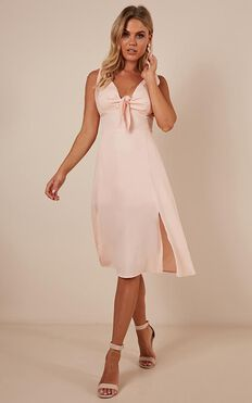 Happens For A Reason Dress In Blush