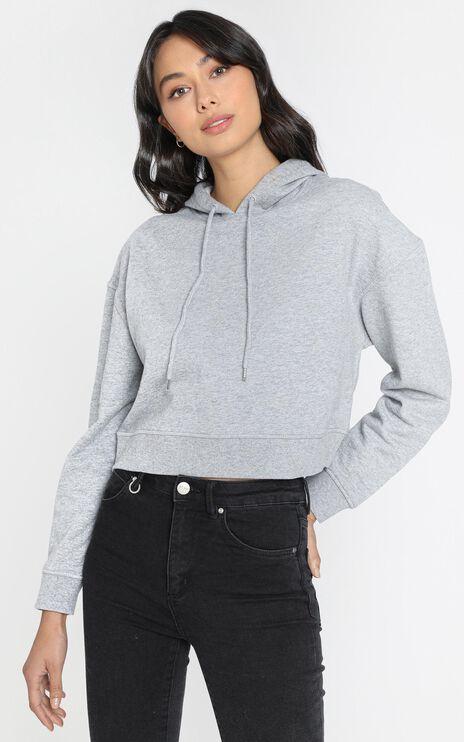 AS Colour - Crop Hood in Grey Marle