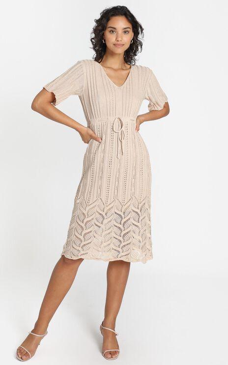 Alyssia Dress in Beige