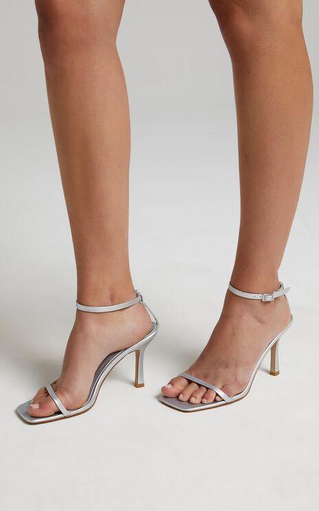 Billini - Salsa Heels in Matte Silver