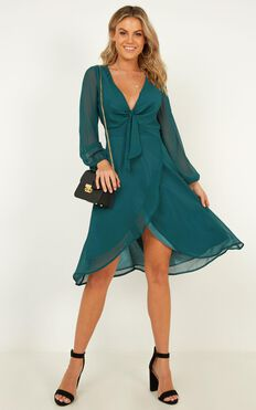 Conquering Dress In Emerald