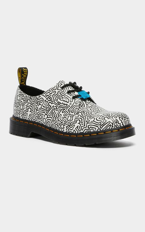 Dr. Martens - 1461 Keith Haring 3 Eye Shoe in White Smooth