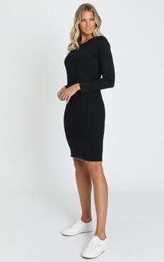 AS Colour - Mika Organic LS Tee Dress in Black