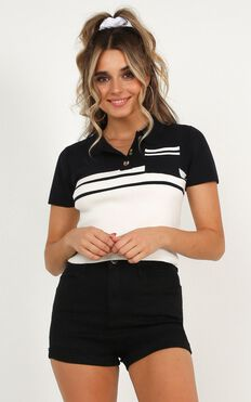 Fame Or Freedom Top In Navy Stripe