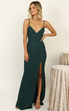 Always Extra Dress In Emerald Lace