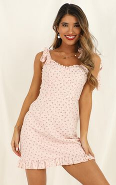 Easy On The Eyes Dress In Blush Floral
