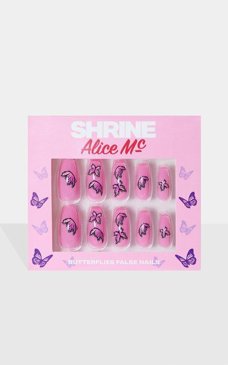 Shrine X Alice Mc - Butterflies False Nails