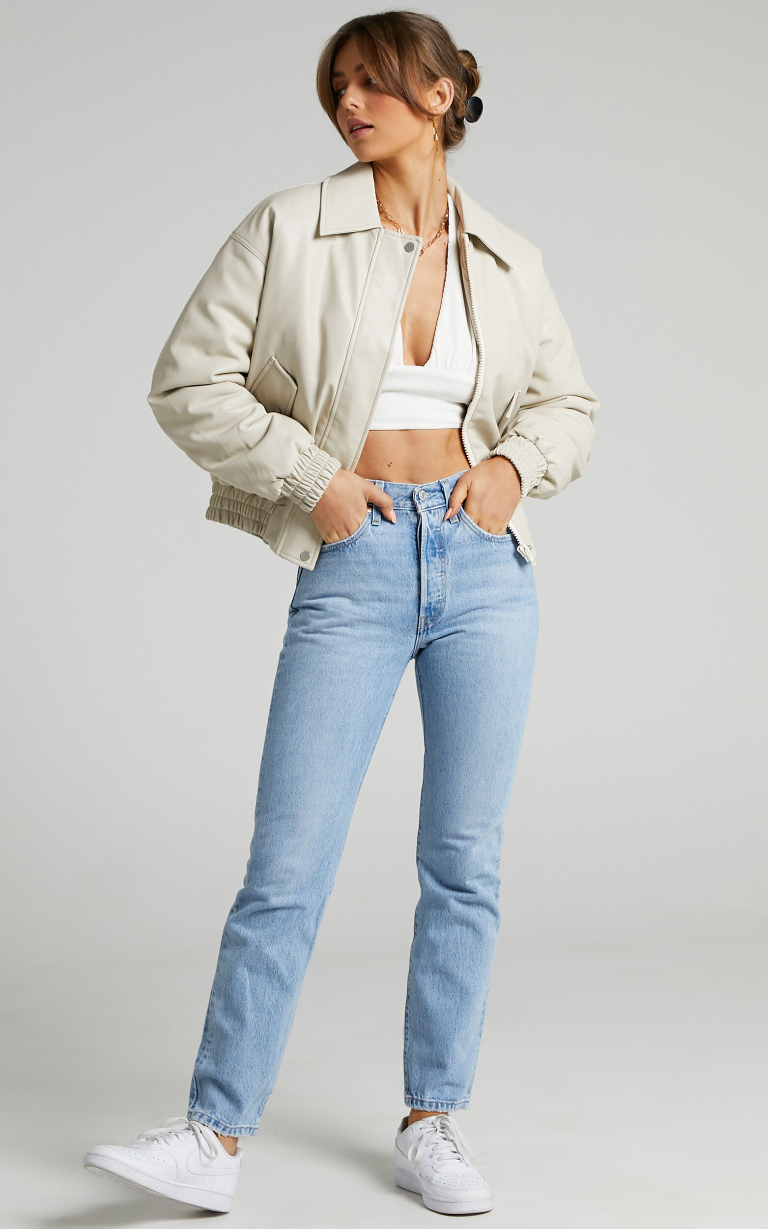 Kinzie Puffer Jacket in Cream - 06, CRE1, super-hi-res image number null