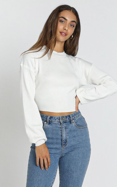 One Hero Knit Jumper in ivory - 16 (XXL), White, hi-res image number null
