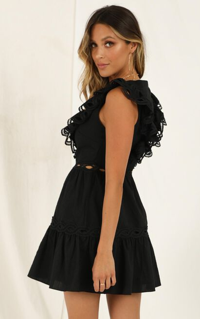 I Want It Dress in black linen look - 20 (XXXXL), Black, hi-res image number null