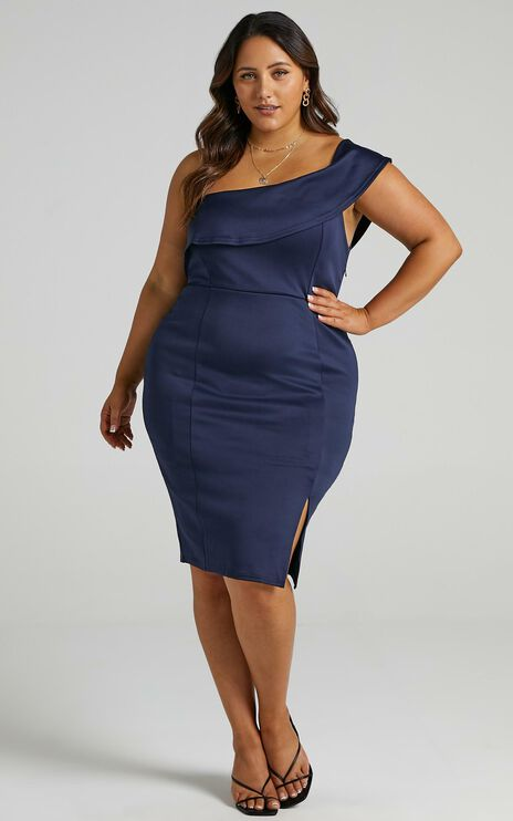 Seven Seas Dress In Navy