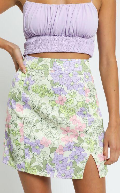 International Babe Skirt In Garden Floral