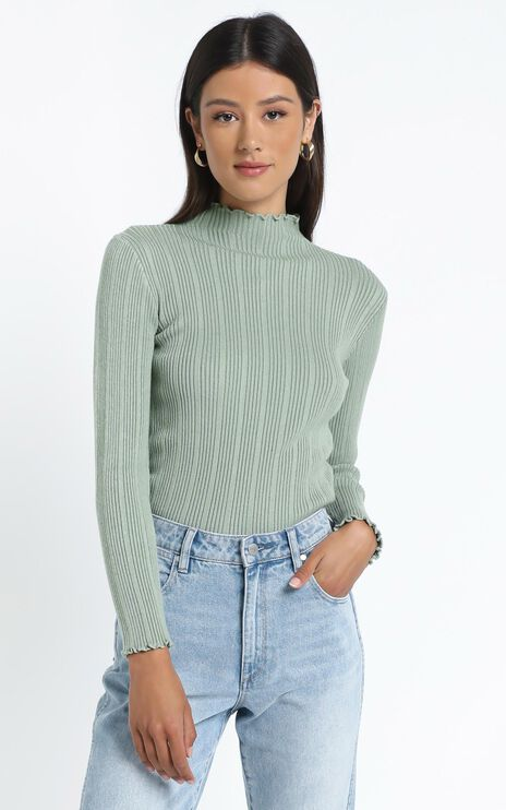 Maddox Knit Top in Pistachio