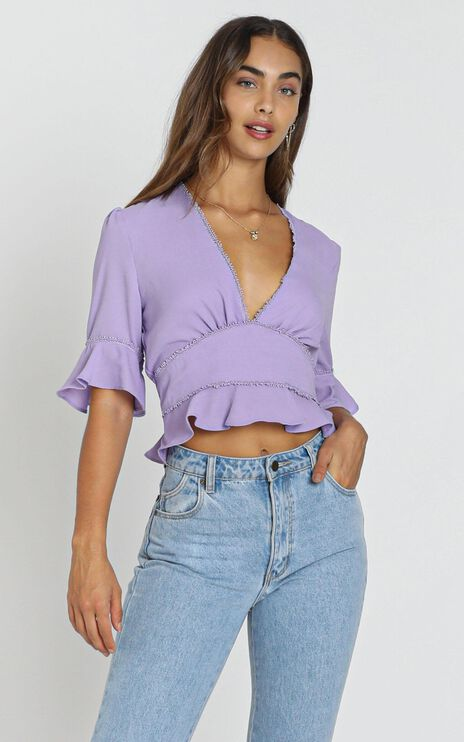 Latrobe Top In Lavender