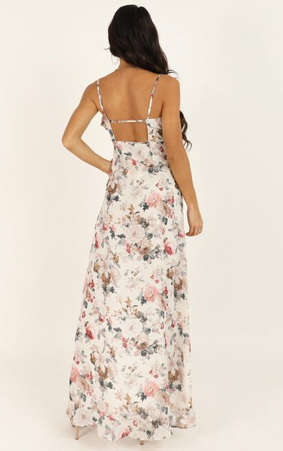 So Clumsy I Am Falling In Love Dress In white floral - 20 (XXXXL), White, hi-res image number null